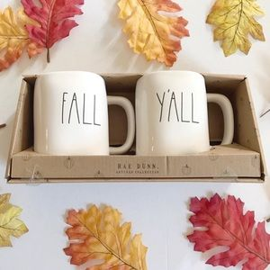 **LAST ONE** Rae Dunn FALL Y'ALL Mug Set